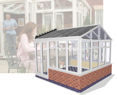 3D image of Gable End Conservatory
