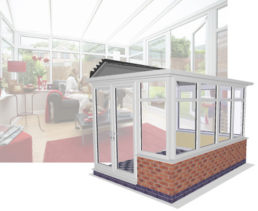 3D image of Hipped Lean To Conservatory