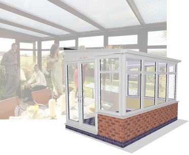 3D image of Lean To Conservatory